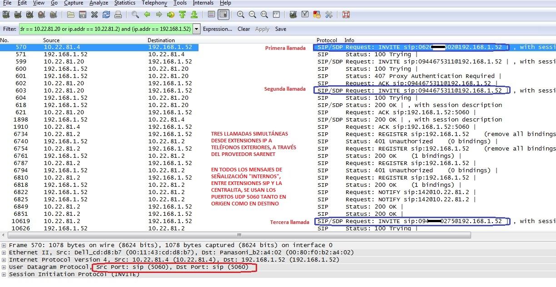 Puertos UDP necesarios en llamadas SIP con la NCP500_1
