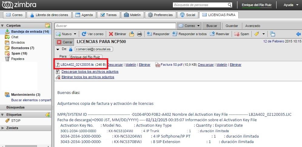 Activacion licencias NCP500_2